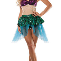 Multicolored Mini Mermaid Cosplay Costumes