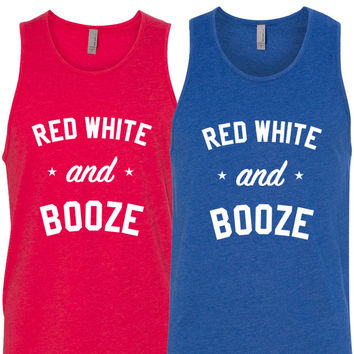 RED WHITE & BOOZE - MENS TANK ( UNISEX )