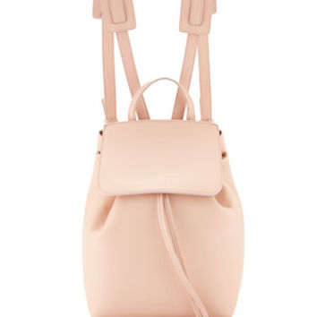 Mansur Gavriel Mini Calf Leather Backpack, Rosa