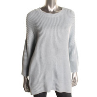 Theory Womens Hesterly Linen 3/4 Sleeves Pullover Sweater