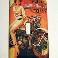 Light Switch Cover - Light Switch Harley Davidson Vintage Ad