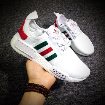 Beauty Ticks Gucci X Cucci X Adidas Consortium Nmd R1 White Boost Sport Running