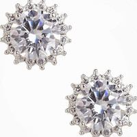CUBIC ZIRCONIA STARBURST STUD EARRINGS from EXPRESS