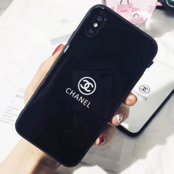 Chanel Trending Print iPhone Phone Cover Case For iphone 6 6s 6plus 6s-plus 7 7plus hard shell Black G