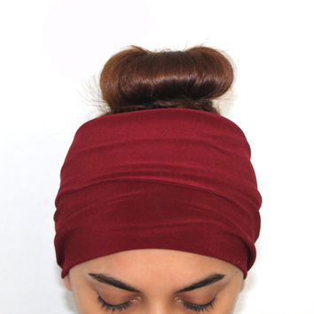 burgundy hairband, headbands,Pilates headbands,white headbands,yoga headbands,