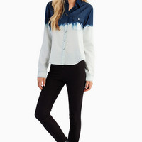 Ombre Denim Shirt $52