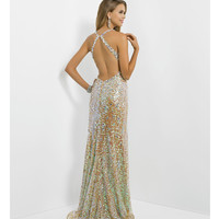 (PRE-ORDER) Blush 2014 Prom Dresses - Jasmine Sequin Jeweled Long Prom Dress