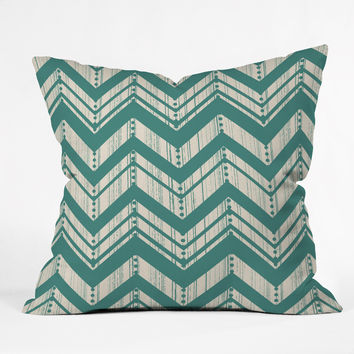 Heather Dutton Weathered Chevron Throw Pillow