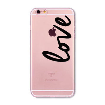 light pink, large love Phone Case for iPhone 7 6 6s