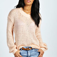 Lina Slouchy Soft Knit Jumper