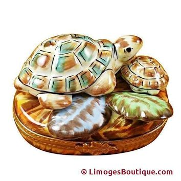 TURTLE FAMILY LIMOGES BOXES
