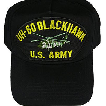 UH-60 Blackhawk U.S. Army Helicopter Hat - Black - Veteran Owned Business