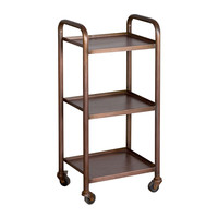 Vintage-Inspired Steel Rolling Cart - Small