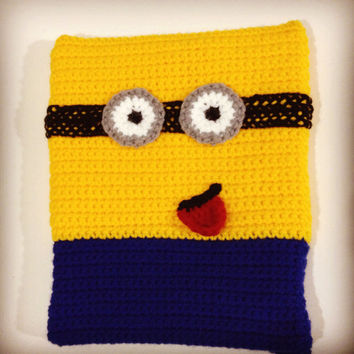 Minion iPad/Tablet Case - Despicable Me Gru Handmade Crochet Pouch/Clutch/Bag/Cover