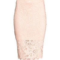 Fitted Lace Skirt - from H&M