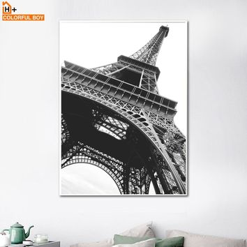 COLORFULBOY Paris Tower Landscape Nordic Posters And Prints Wall Art Canvas Painting Wall Pictures For Living Room Decoration