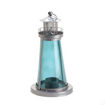 Blue Glass Lighthouse Lantern