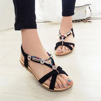 Comfortable Summer Peep Toe Sandals For Women