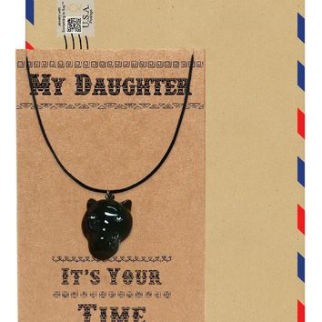 Marielle Black Panther Inspired Necklace, Gift for Her, Gift for Daughter with Greeting Card
