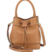 Robinson Mini Pebbled Bucket Bag, Tiger's Eye - Tory Burch