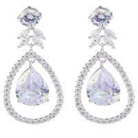 Miley Crystal Halo Drop Earrings