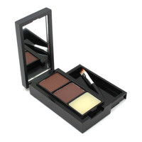 Hot Sale Professional Eye Brow Makeup Eyebrow Powder/Shadow + Eyebrow Wax Palette + Brush