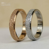 Ring 18K Rose gold Ring on the Ring Titanium Steel Simple Couple ring Men and Women
