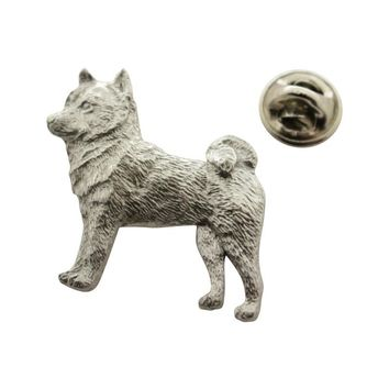Shiba Inu Pin ~ Antiqued Pewter ~ Lapel Pin