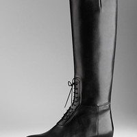 Lace-Up Detail Riding Boots