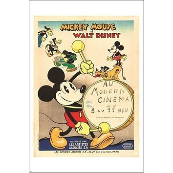 MICKEY MOUSE classic movie poster 1933 FRENCH AFFICHE kid friendly 24X36 NEW
