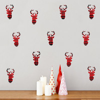 Plaid Deer Mini-Pack Wall Decals