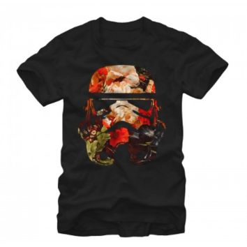 Star Wars Floral Print Storm Trooper  Graphic T Shirt Unisex