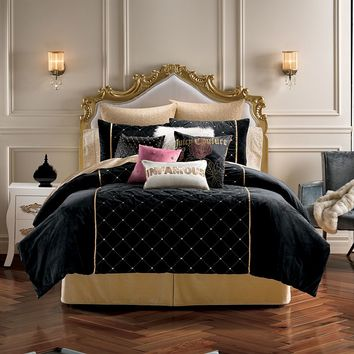 Juicy Couture After Hours 3-pc. Comforter Set - Full/Queen (Black)