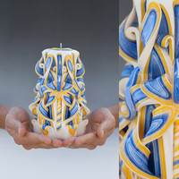 Carved candles - Unique candle