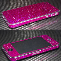 iPhone 4  4S Glitter Bling Metalic Wrap Skins by ALPIDECALS