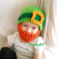 Child Size Leprechaun hat with Detachable beard for Saint Patrick's Day