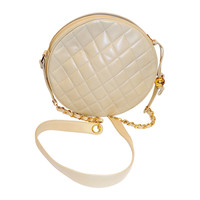 New With Tags Chanel Tan Vintage Round quilted Lambskin Bag RARE