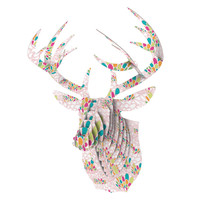 "Miranda Mol ""Blown Away"" Pink Multicolor Bucky Deer Bust Jr."
