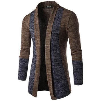 Stylish Brand Men Sweater Cardigan Male Slim Fit Casual Long Sleeve Cardigan Outerwear With Shawl Collar