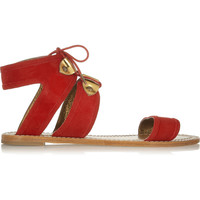 12th Street by Cynthia Vincent Sophia suede sandals – 50% at THE OUTNET.COM