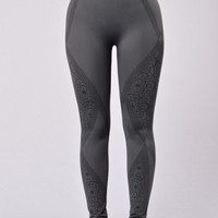 Floral Haze Leggings - Slate