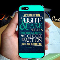Harry Potter Sirius Black Quote   - Photo Hard Case design for iPhone 4/4s Case, iPhone 5 Case, Black or White ( Choose Option )