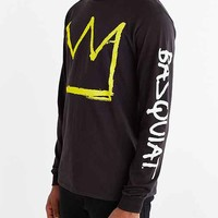 Junk Food X Basquiat Crown Long-Sleeve Tee- Black