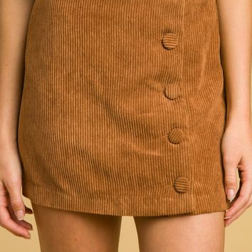 High Waisted Skirt With Buttons (8IS0890H)