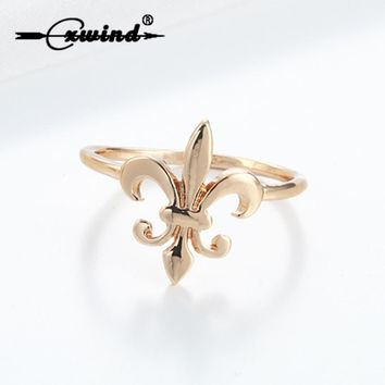 Cxwind New Fleur De Lis Ring Fleur De Lis Rings Royal Gift for Women Fleur de Lis Ring French Louisiana Orleans Saints Bague