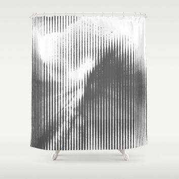 Grays Shower Curtain by duckyb