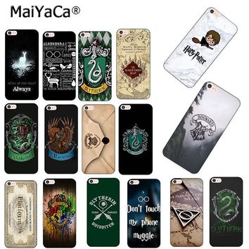 MaiYaCa Harry Potter always Slytherin School Hot Fashion Fun Dynamic phone case for Apple iPhone 8 7 6 6S Plus X 5 5S SE 5C case
