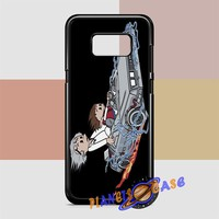 Calvin And Hobbes (back to the future) Samsung Galaxy S8 Case Planetscase.com