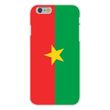 Apple iPhone 6 Custom Case White Plastic Snap On - Burkina Faso - World Country National Flags
