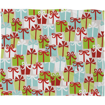 Andrea Victoria Jolly Gifts Fleece Throw Blanket